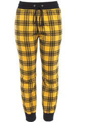 Yellow Drawstring High Waist Pants