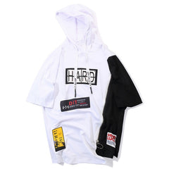 Hard Graphic Hooded T-Shirt