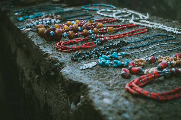 Colorful African waist beads