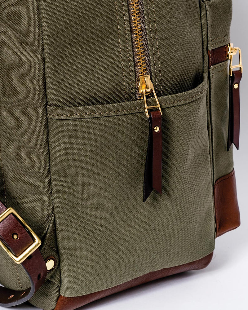 Blue & Grae ATOMI Canvas Backpack Olive 2019