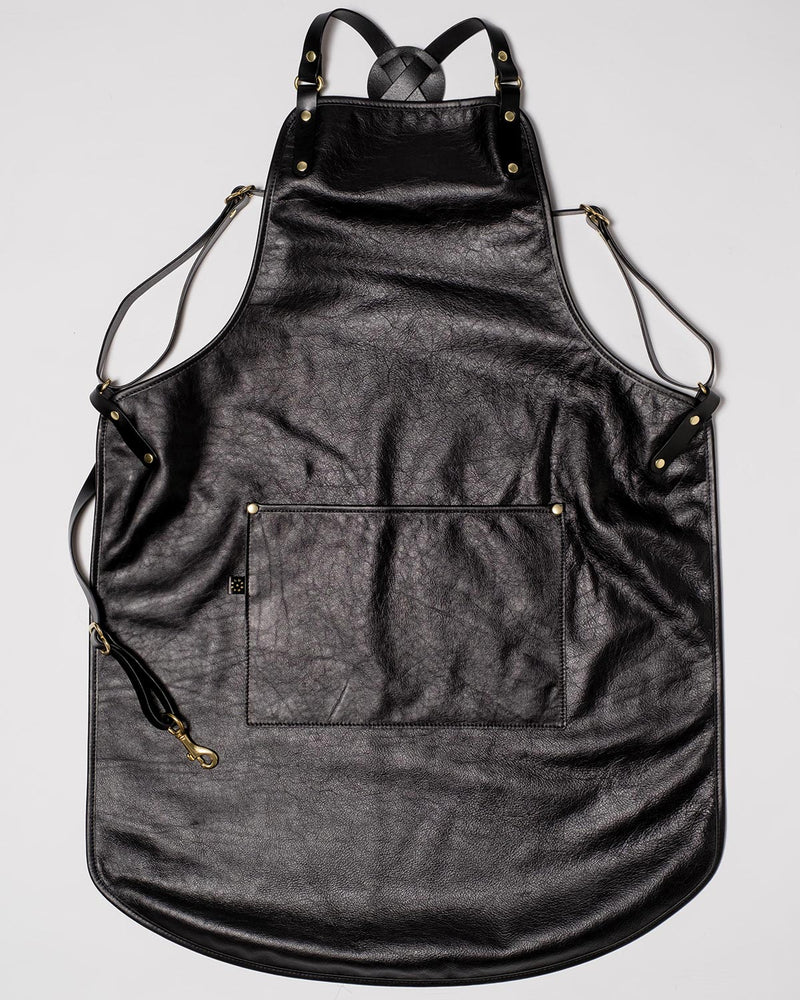 Blue & Grae GLADSTONE Leather Apron Black 2019