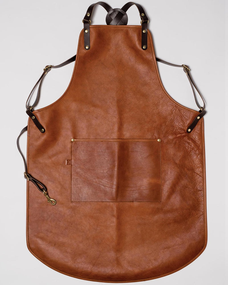 Blue & Grae GLADSTONE Leather Apron Brown 2019