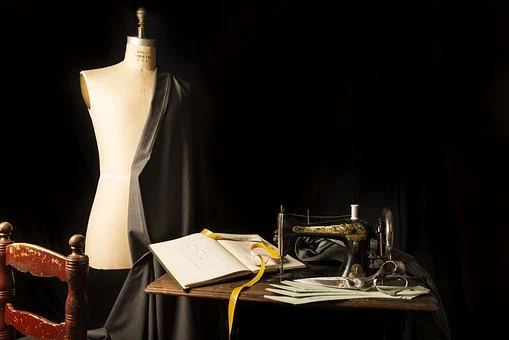 A mannequin and other pattern-making tools