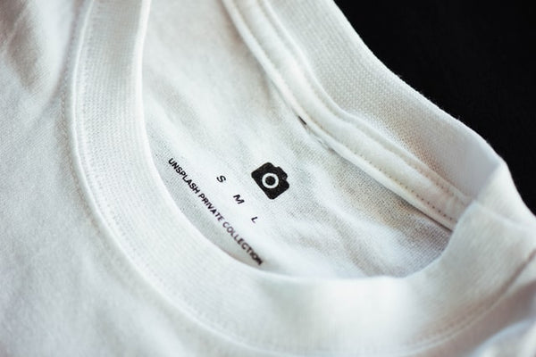 t-shirt with printed tag