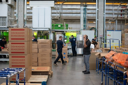 employees in a warehouse