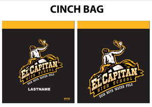 El Capitan Custom Water Polo Cinch Bag