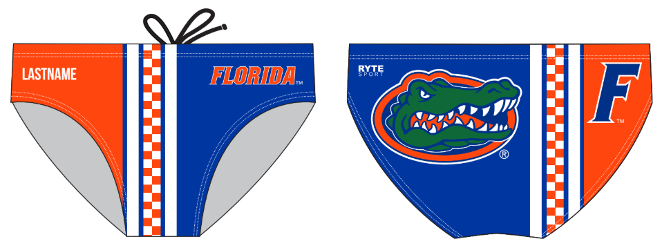 University of Florida Club Water Polo Custom Men's Water Polo Brief
