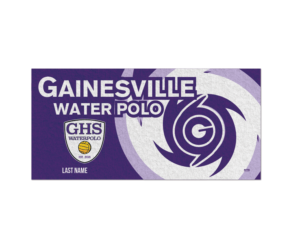 Gainesville High School 2019 Water Polo Custom Towel - Personalized