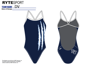 DVHS Open Back Thin Strap Swim Suit