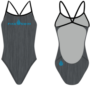Fike Custom Blue Open Back Swim Suit