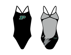 Poway High School 2019 Varsity Swim Team Women's Open Back Thin Strap Swimsuit