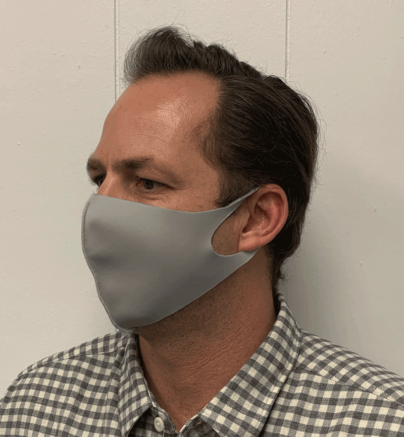 Solid Gray Olson Face Mask