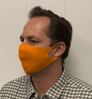 Solid Orange Olson Face Mask