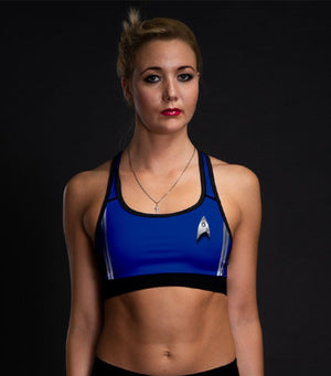 Star Trek: Discovery Women's Science Uniform Sports Bra