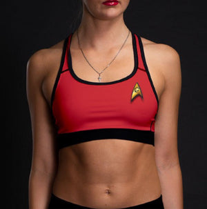 Star Trek: The Original Series Women's Engineering Uniform Sports Bra