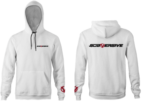 Subversive White Unisex Adult Hooded Sweatshirt