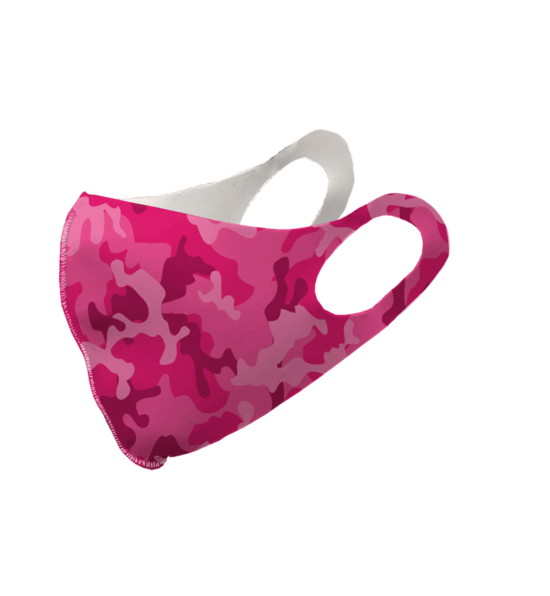 Pink Camouflage Olson Face Mask