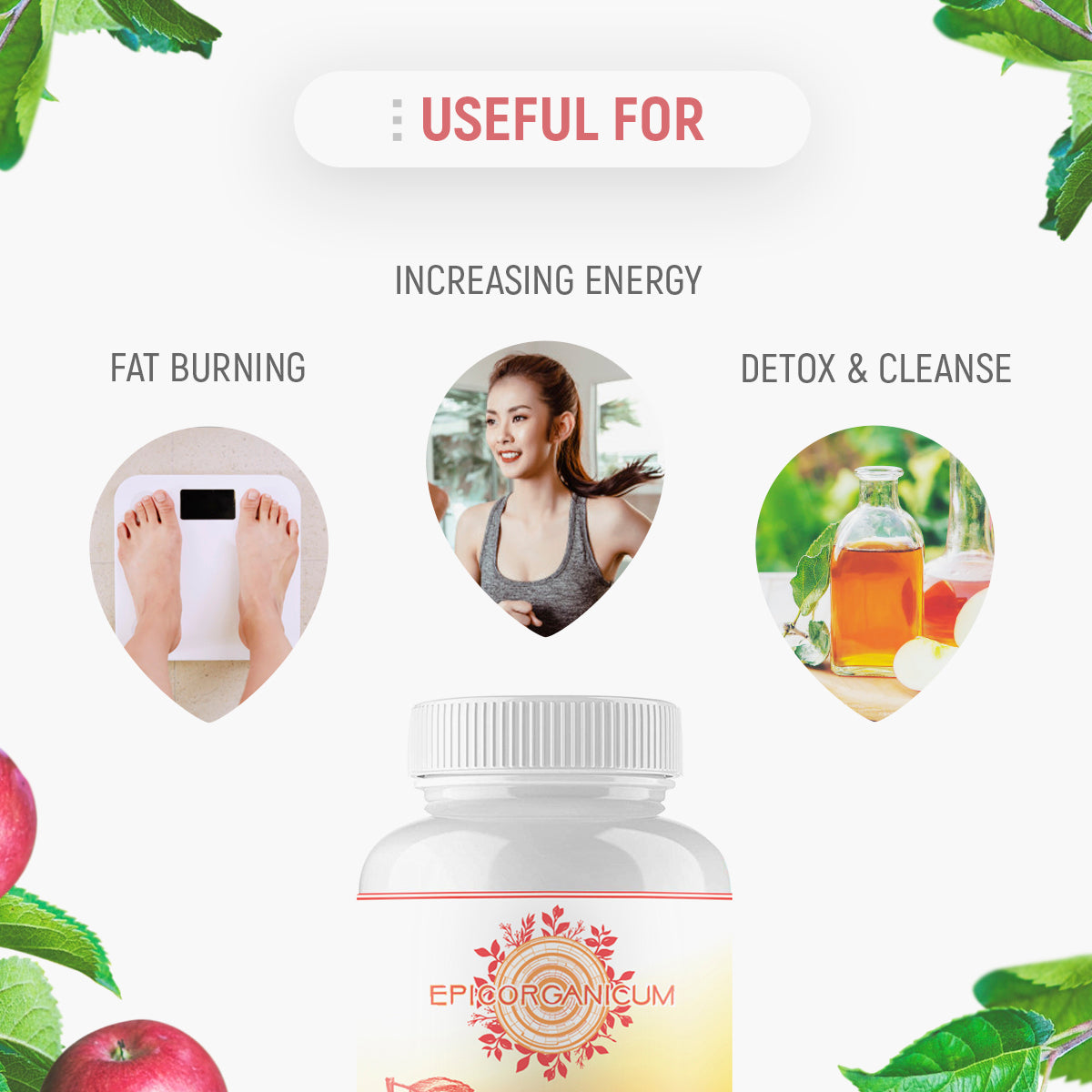EpicOrganic Keto Apple Cider Vinegar Capsules Weight Control Supplements - Weight Management Support