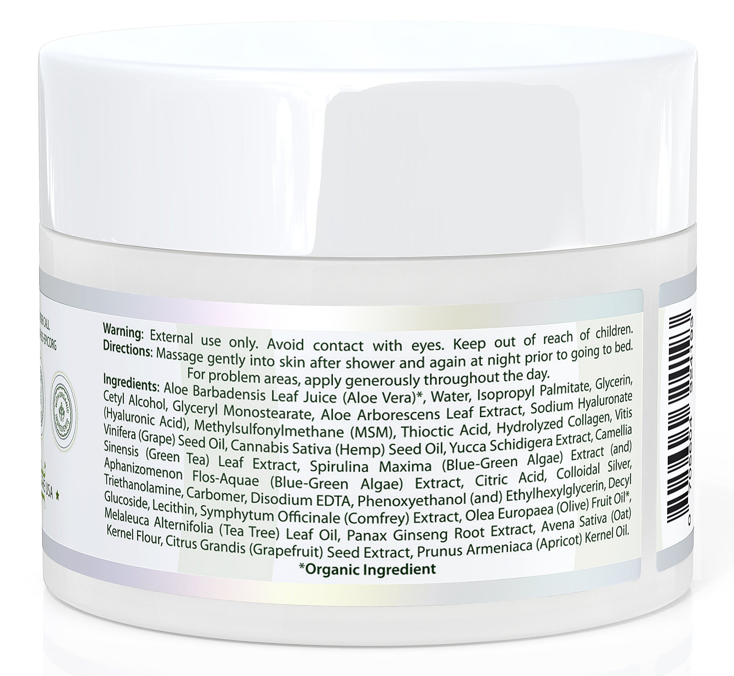 EpicOrganic Aloe Vera Based Moisturizer For Face And Body 8 oz. Jar
