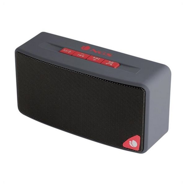 Bluetooth Speakers NGS ROLLERJOYGRAY 3W FM SD USB Red Grey
