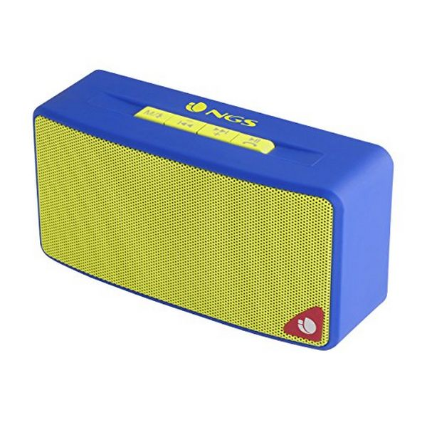 Bluetooth Speakers NGS ROLLERJOYBLUE 3W FM SD USB Blue Yellow