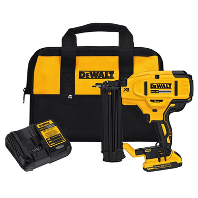 DEWALT 20V Max 18 Ga Cordless Brushless Brad Nailer Kit (DCN680D1R) NEW OPEN BOX