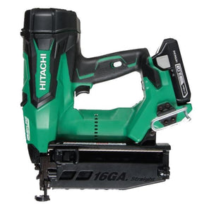 "HITACHI NT1865DM 2-1/2"" 18V Cordless 16ga Straight Finish Nailer Kit (Refurbished)"