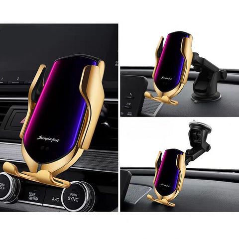 car phone mounts with wireless charging