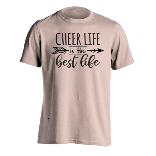 Cheer is the Best Life T-Shirt - Rose Gold