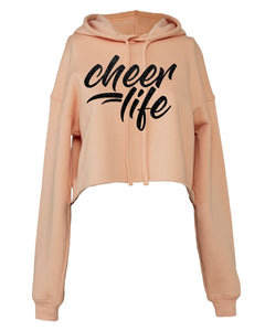 Cheer Life - ROSE GOLD CROPPED FLEECE HOODIE