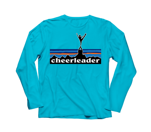 Cheerleader Landscape T-Shirt - COMFORT COLORS® Lagoon Blue