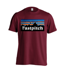 Fastpitch Landscape T-Shirt Maroon