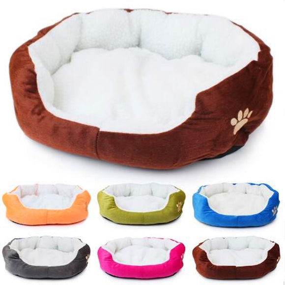 Soft Pet Dog Nest Puppy Cat Bed Fleece Warm House Kennel Plush Mat 4 Colors Pet Products Small Dog Bed cama para cachorro