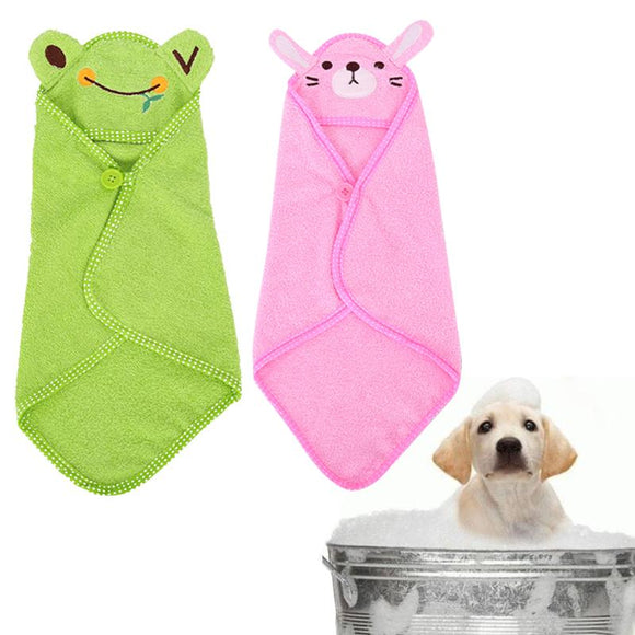S/M/L Puppy Drying Towel Cartoon Pet Dog Bath Towel Absorbent Shower Bathrobe Blanket for Small Dog Animals Pet Products