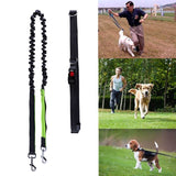 Elastic Dog Leash Running Jogging Dog Leading Product Adjustable Nylon Dog Leash With Reflective Strip Pet Accessories