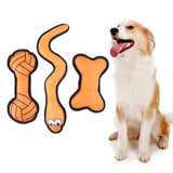 3Pcs Dogs Flying Discs Toy Snake/Barbell/Bone UFO Throwing Training Toys for Dog Christmas Pet Gifts Supplies Pet Product