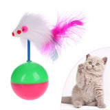 Long Feather False Mouse Mice Animal Toys for Cat Kitten Tumbler Ball Rustle Activity Toy For Cat Products Pet Supplies