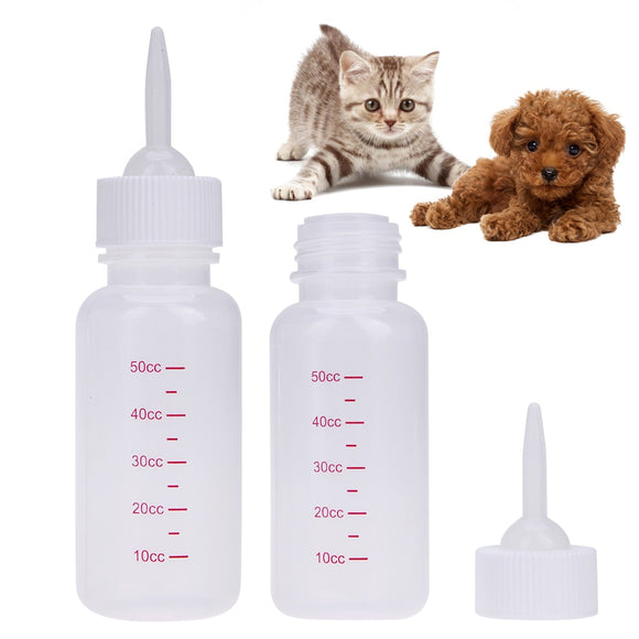 50ml Puppy Kitten Feeding Bottle Pet Nursing Feeding Bottle for Small Dogs Cats Animal Baby Feeder Pet Products