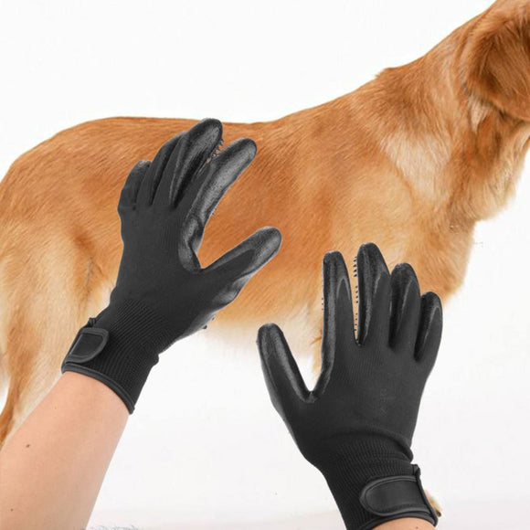 Rubber Pet Hair Comb Bath Brush Glove Gentle Efficient Cleaning Bath Massage Pet Grooming Dog Cat Supplies Pet Accessories