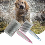 Hair Remover Dense Comb Brushes For Pet Plastic Handle Brush Dog Comb Brush Quick Clean Grooming Shedding Tool Pet Product