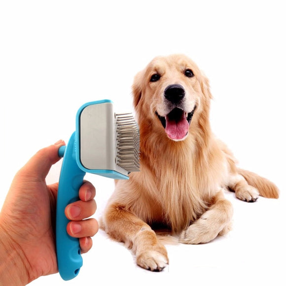 TAILUP Universal Pet Dog Comb Dense Needle Type Pets Comb Plastic Ergonomic Handle Pet Dog Daily Hair Care Brush Tool