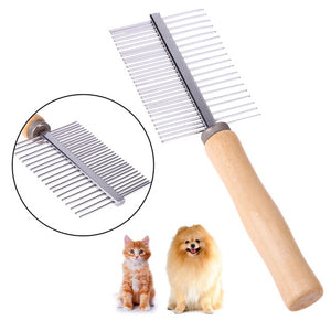 1PC Pet Rake Comb Steel Needles Comb for Dogs Puppy Cat Hairbrush Grooming Tools Dogs Accessories Cat Products