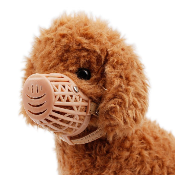 PET Dog Muzzle Plastic Brown Strong Dog Products Prevent Bite Dog Mouth Mask Anti-biting Adjusting Straps Mask 1-7 Size