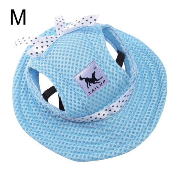 Summer Canvas Dog Outdoor Baseball Cap Hat With Ear Holes 4 Colors