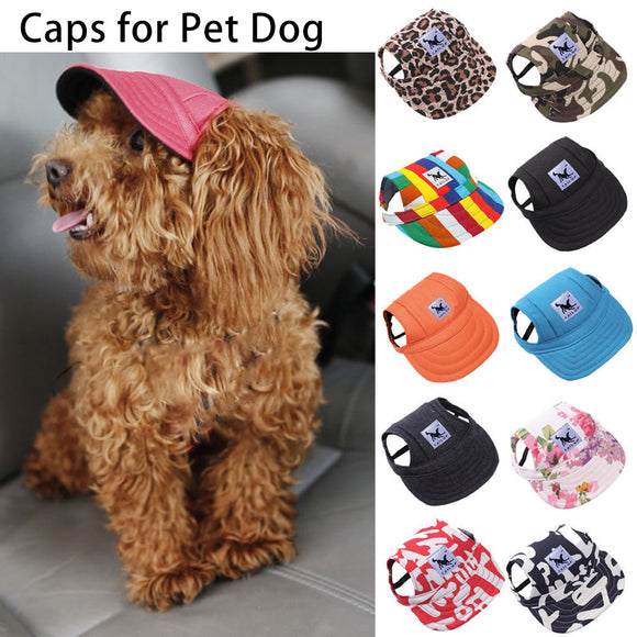 Small Dog Outdoor Canvas Baseball Cap Accessory