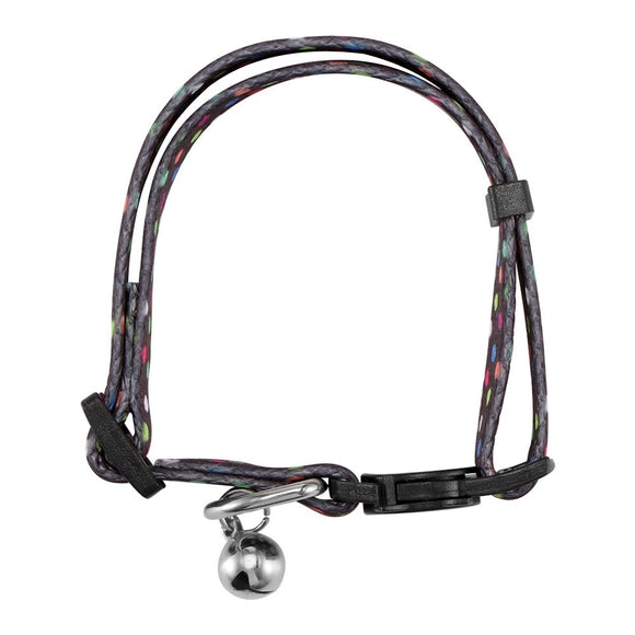 Portable Adjustable Quick Release Safety Buckle Cat Collar with Bell