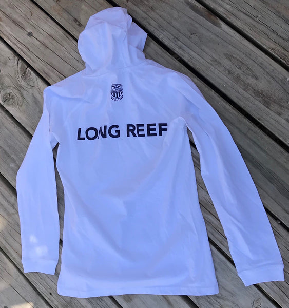 White Cotton Long Sleeve Hooded T-Shirt