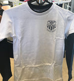 2018-19 KIDS LONG SLEEVE T-SHIRT (White with Navy Sleeves)