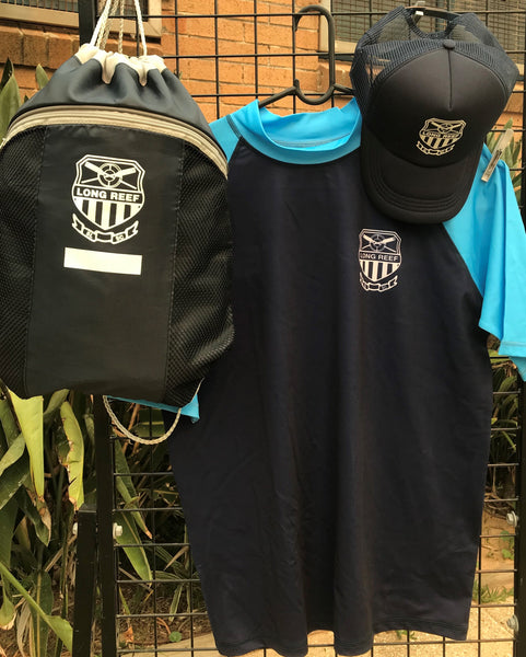 XMAS SALE Short-sleeve adult rashie + Backpack + Hat