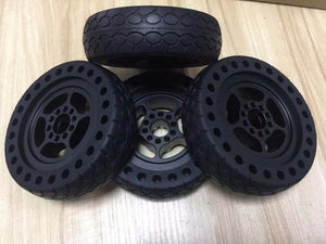 6 inches off road rubber wheels (4 Pcs for 1 Set)